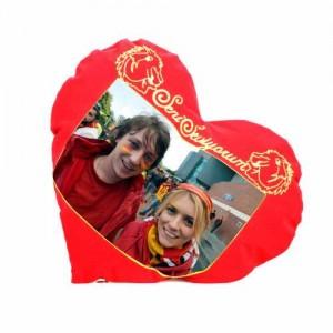 Kalpli Taraftar Yastık (Galatasaray-Seni Seviyorum)