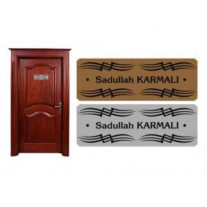Kapı İsimliği Gravür Oyma