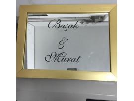 Aynaya lazer kazıma yazısı