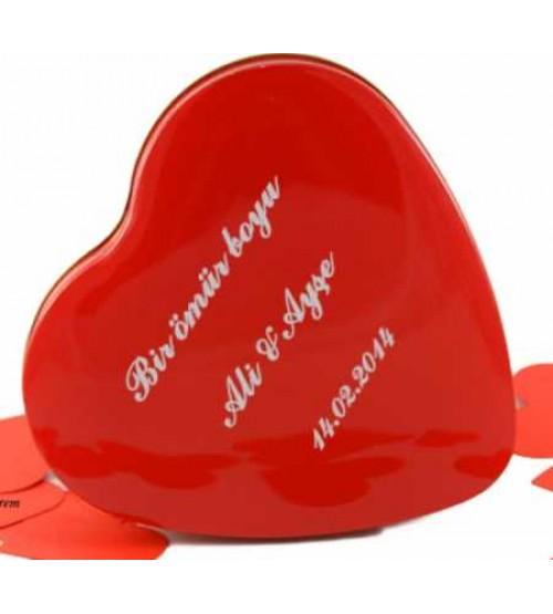 İsme Özel Metal Aşk Kutusu (365 Adet Mesaj)