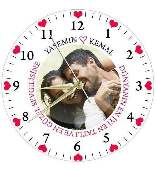 Sevgiliye Özel Cam Duvar Saati