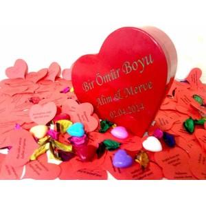 İsme Özel Kalpli Romantik Aşk Kutusu