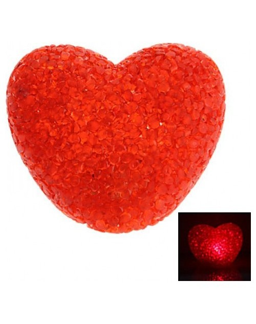 Sevgiliye Led Işıklı Slikon Kırmızı Kalp