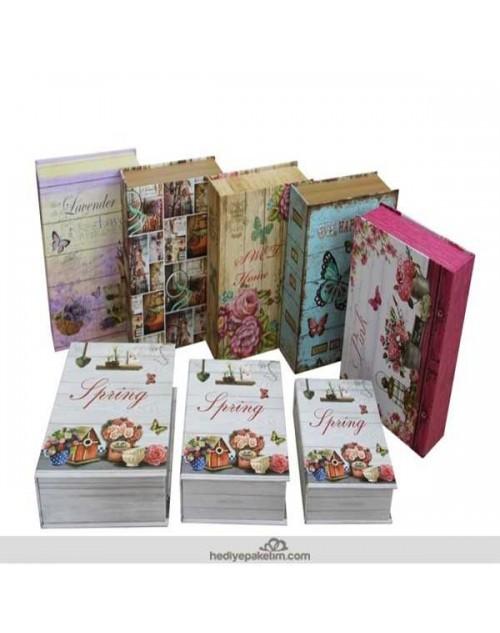Kitap Şeklinde Hediye Kutusu 3 lü Set