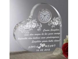 Sevgiliye Hediye Saatli Kalp Ödülü