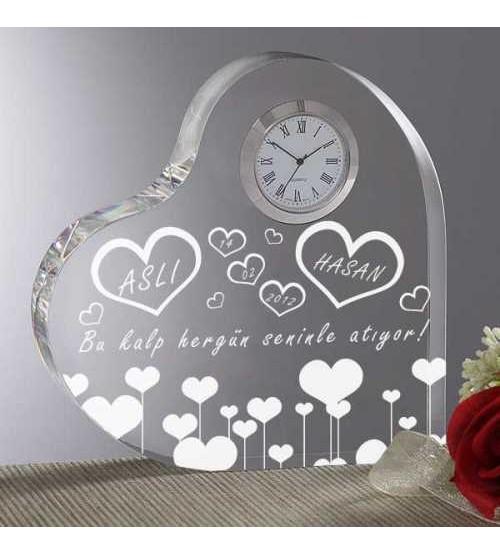 Kişiye Özel Kalpli saat Ödülü