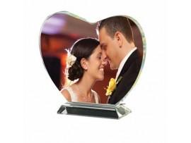 Sevgililer Günü Hediyesi Kristal Kalp Plaket